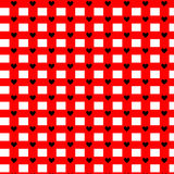 Seamless hearts pattern. Vector repeating texture. Valentine`s Day Stock Photo