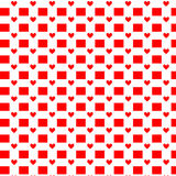 Seamless hearts pattern. Vector repeating texture. Valentine`s Day Stock Photography
