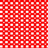 Seamless hearts pattern. Vector repeating texture. Valentine`s Day Stock Image