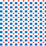 Seamless hearts pattern. Vector repeating texture. Valentine`s Day Royalty Free Stock Images