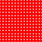 Seamless hearts pattern. Vector repeating texture. Valentine`s Day Stock Photos