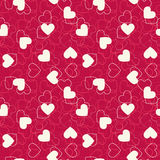 Seamless hearts pink background. Stock Images