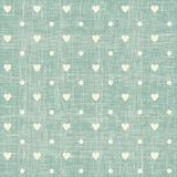 Seamless hearts polka dot pattern Royalty Free Stock Photos