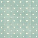 Seamless hearts polka dot pattern Royalty Free Stock Photos
