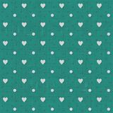 Seamless hearts polka dot pattern Royalty Free Stock Images