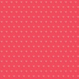 Seamless hearts polka dot red pattern Stock Photo