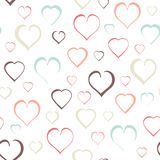 Seamless of Hearts Stock Image