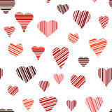 Seamless of Hearts Royalty Free Stock Photos