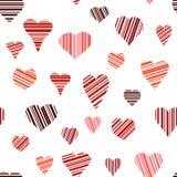 Seamless of Hearts Royalty Free Stock Photos