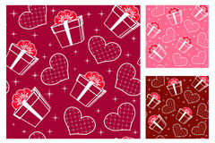Seamless with hearts. Set Royalty Free Stock Photo