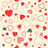 Seamless Hearts Vector Pattern Royalty Free Stock Images