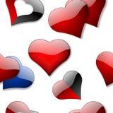 Seamless hearts wallpaper Stock Photo