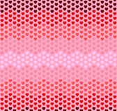 Seamless hearts zigzag pattern on pink background. Vector illustration eps10 Stock Photo