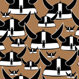 Seamless helm knight pattern on brown Stock Images
