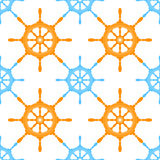 Seamless helm. Seamless pattern of steering wheels. vector format Stock Image