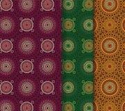 Seamless Henna Patterns Stock Photo