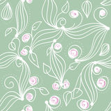 Seamless herbal pattern Stock Photo