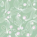 Seamless herbal pattern Stock Photo