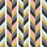 Seamless herringbone pattern with glittery effect. Seamless herringbone tile pattern with glittery effect. Modern colorful print in vector format. Perfect for Royalty Free Stock Photos
