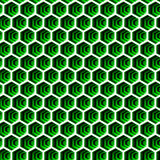 Seamless hexagon background in green and white 102. A detailed hexagon pattern background in white and green Royalty Free Stock Photo