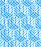 Seamless hexagon cube background texture Royalty Free Stock Photos