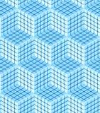 Seamless hexagon cube background texture. Abstract backdrop Royalty Free Stock Photos