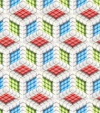 Seamless hexagon cube background texture Royalty Free Stock Photography