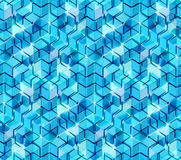 Seamless hexagon cube background texture. Abstract backdrop Royalty Free Stock Photography