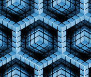 Seamless hexagon cube background texture. Abstract backdrop Stock Photography