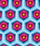 Seamless hexagon cube background texture. Abstract backdrop Royalty Free Stock Images