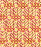 Seamless hexagon cube background texture Royalty Free Stock Images