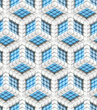 Seamless hexagon cube background texture Royalty Free Stock Image
