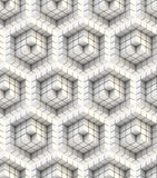 Seamless hexagon cube background texture Stock Image