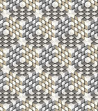 Seamless hexagon cube background texture Stock Photography