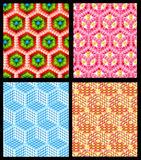 Seamless hexagon cube background texture Royalty Free Stock Photo