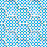 Seamless Hexagon Design. Futuristic Tile Pattern Stock Image