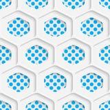 Seamless Hexagon Design. Futuristic Tile Pattern Stock Photography