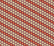 Seamless hexagon floral pattern. Stock Images