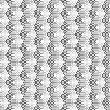 Seamless hexagon monochrome pattern, repeating geometric texture, linear structure background Royalty Free Stock Images