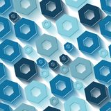 Seamless hexagon pattern Stock Photos