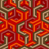 Seamless hexagon pattern Royalty Free Stock Image