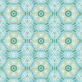 Seamless hexagon pattern beige turquoise light blue yellow netting. Abstract geometric seamless background. Regular hexagon pattern beige, turquoise, light blue Stock Photo