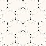 Seamless hexagon pattern. Stock Photo