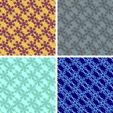 Seamless hexagon pattern set. With bridges Stock Images
