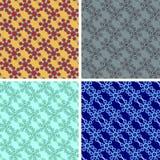 Seamless hexagon pattern set. With bridges stock illustration