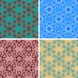 Seamless hexagon pattern set. Seamless hexagon cell pattern set Stock Images