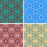 Seamless hexagon pattern set. Seamless hexagon cell pattern set vector illustration
