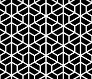Seamless hexagon pattern texture. Abstract classical background. In black and white color. Geometric illustration stock illustration