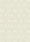 Seamless Hexagon Pattern. Thin Line Graphic Design Royalty Free Stock Photography
