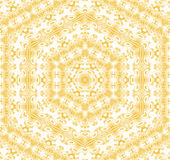 Seamless hexagon pattern yellow ocher white Royalty Free Stock Images